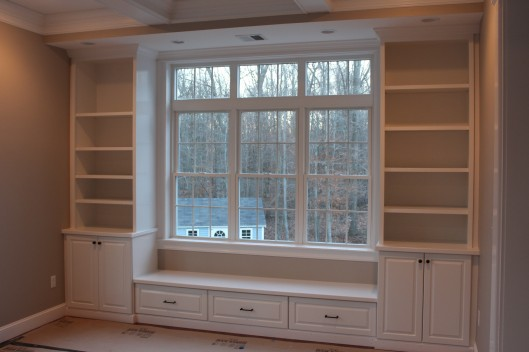 Image of Built in Bench & Bookcases