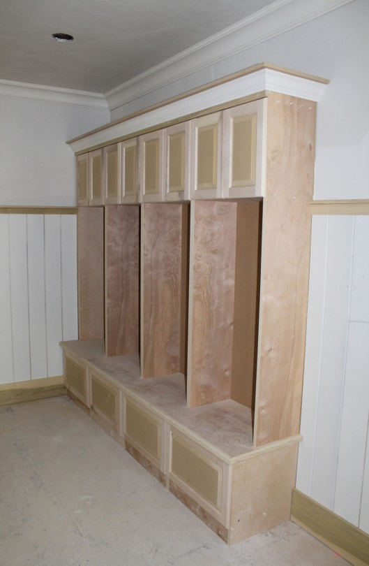 Image Of Mudroom Lockers With Doors And Drawers
