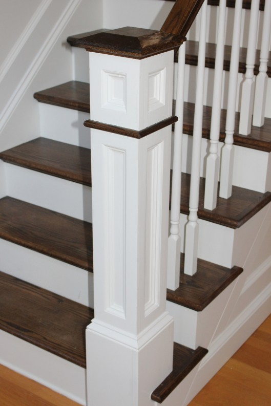 Image of recess panel box newel