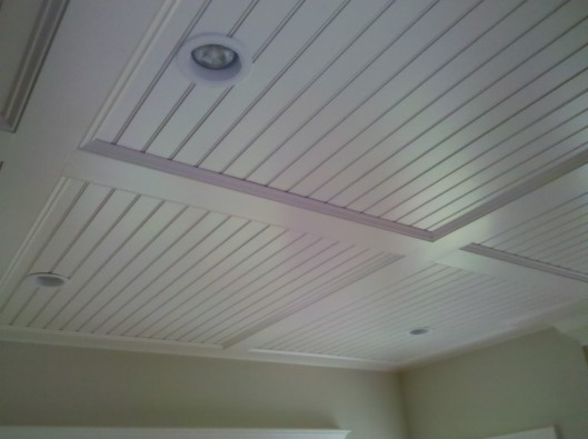 beadboard Ceiling - Custom Home Finish