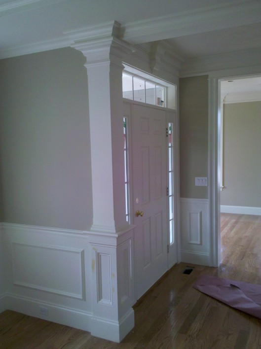 Image of wainscoting & column
