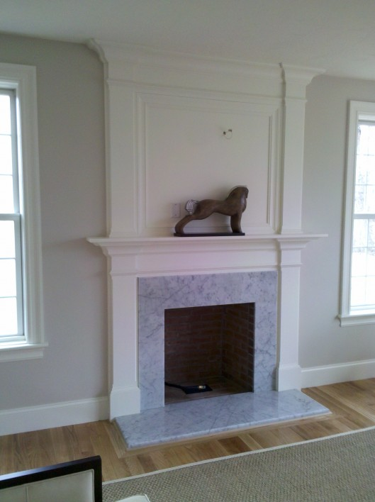 Image of fireplace mantle
