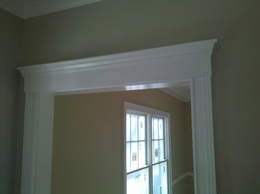 Door Pediment Custom Home Finish