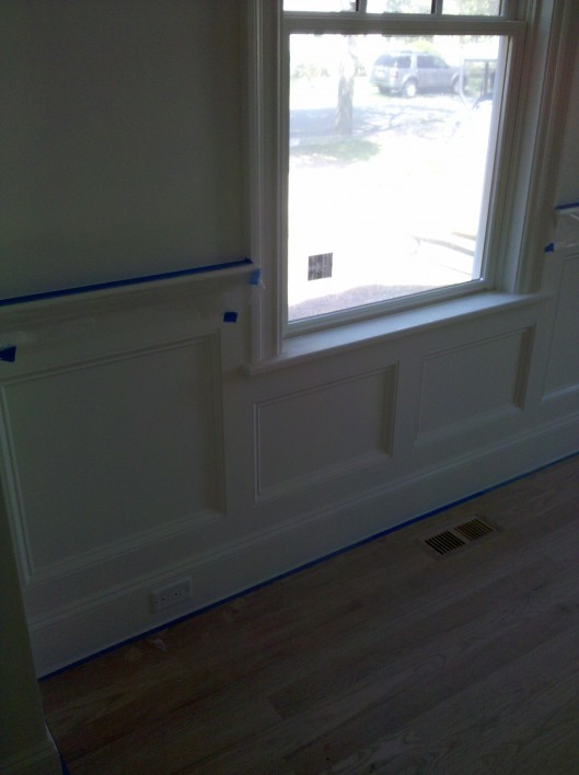 Image of wainscoting