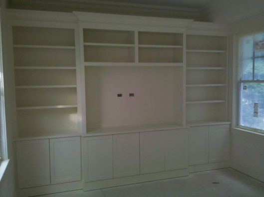 Entertainment Center Shaker Style Custom Home Finish
