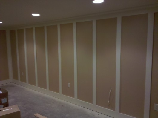 media room wainscoting » Custom Home Finish