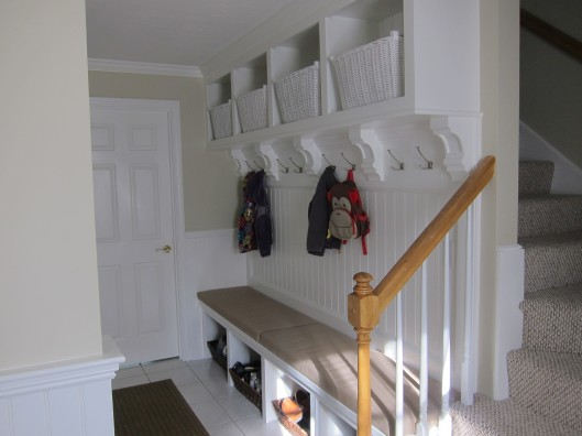 Image of Bench Seat & Cubbies with Corbels