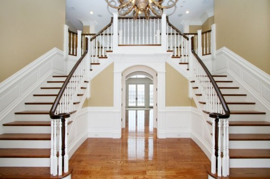 Image Of Main Stair. Double Volute