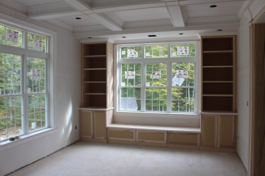 Image of Built In Bookshelves & Bench Seat
