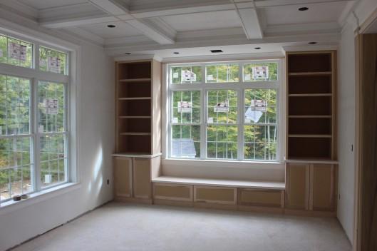 Built In Bookshelves Amp Bench Seat Custom Home Finish