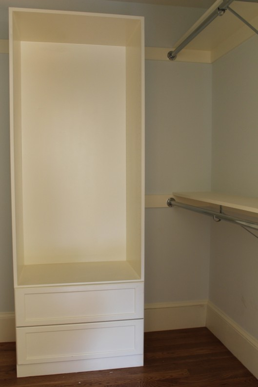 Image of Closet Built In with 2 Drawers