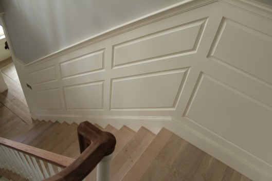 Image of Stair Raised Panel Wainscoting