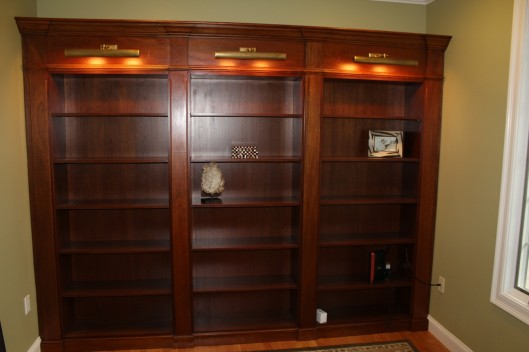 Image of Mahogany Study Built In