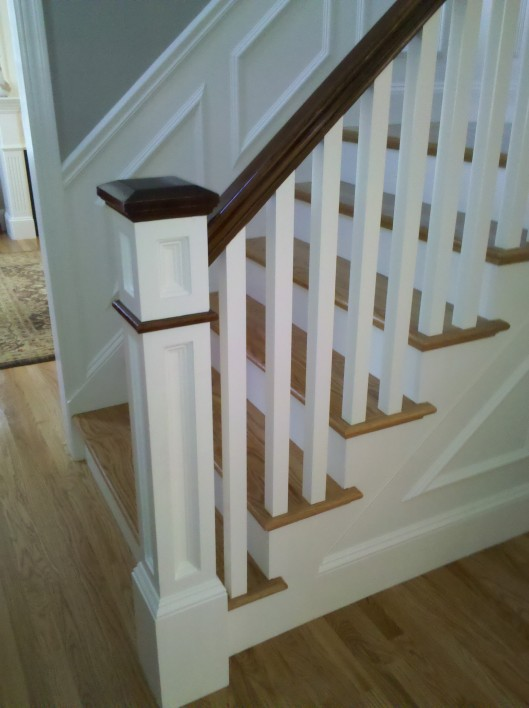 Image of Recessed Panel Box Newel