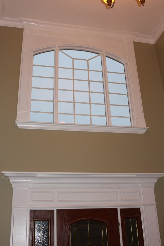 Foyer Window Quest : Front entry upper foyer window custom home finish