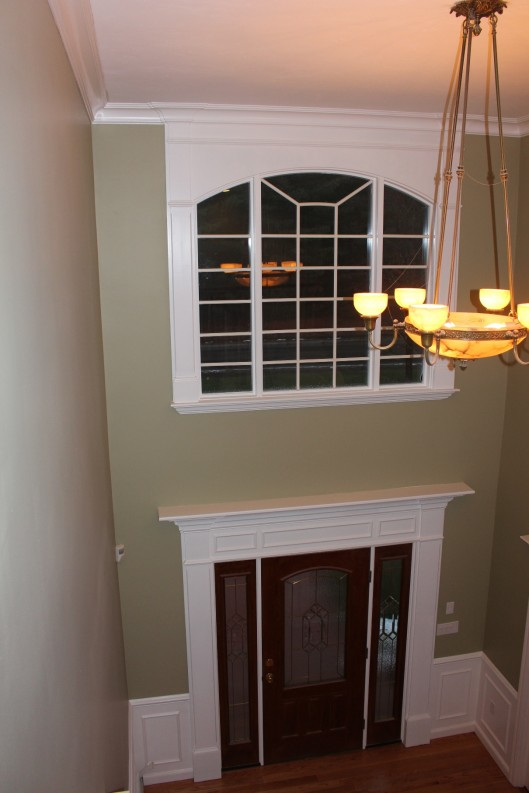 Foyer Window : Front entry upper foyer window custom home finish