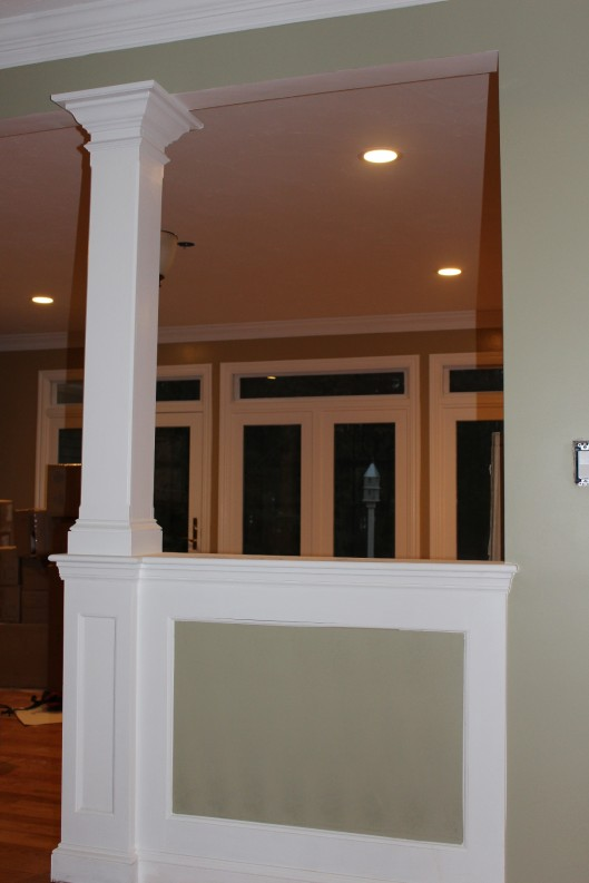 Half Wall Amp Column Custom Home Finish
