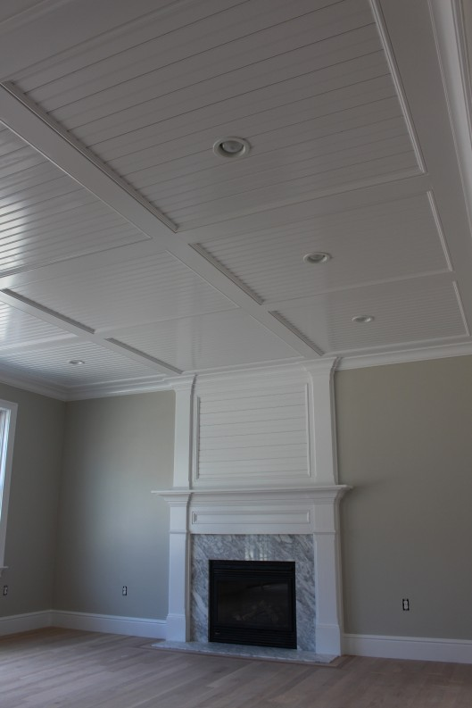 Image of Beadboard Recess Panel Ceiling