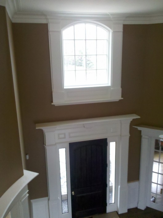 Foyer Window Molding : Foyer trim custom home finish