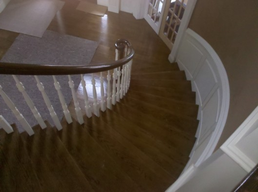 Image of curved stair