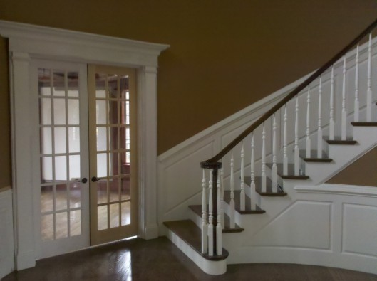 Image Of Stair Volute Wainscoting