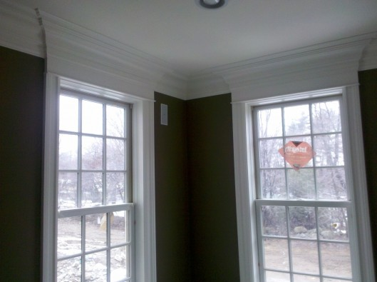 Image of window trim with pediments