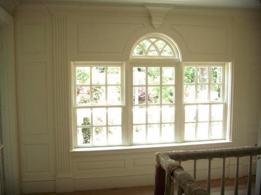 Image of fluted raised panel window