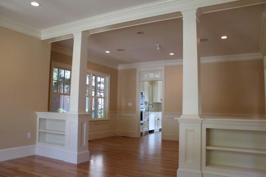 Image of Bookshelf Halfwall & Columns