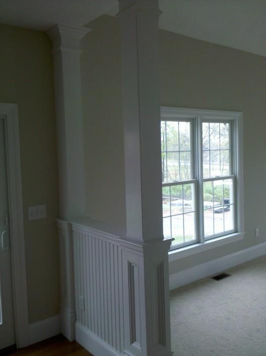 Image of half wall columns