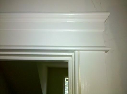 Image of door casing pediment